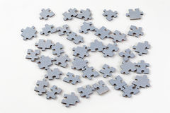 Puzzle pieces on white background Stock Photos