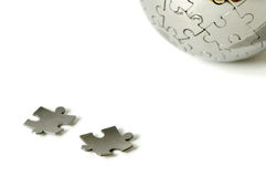 Puzzle pieces and world Royalty Free Stock Image