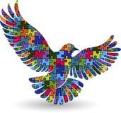 puzzle pigeon logo Royalty Free Stock Photos