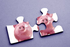 Puzzle piggy Stock Photo