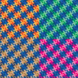 Puzzle Plaid Patterns in Four Colorways. Puzzle plaid pattern collection in four colorways repeats seamlessly Stock Photography