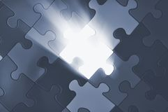 Puzzle plane - one piece missing Royalty Free Stock Photography
