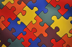 Puzzle plane - one piece missing stock illustration