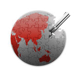 Puzzle planet Stock Photography