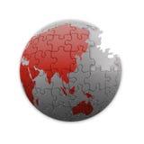 Puzzle planet Stock Image