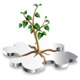 Puzzle Plant Royalty Free Stock Photography