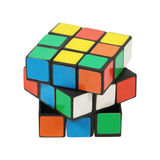 puzzle plastic cube isolated on white Royalty Free Stock Photos
