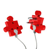 Puzzle plug Royalty Free Stock Photo