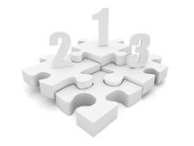 Puzzle podium Royalty Free Stock Photography