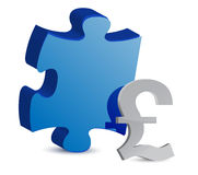 Puzzle and pound illustration design Stock Photography