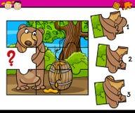 Puzzle preschool cartoon task Royalty Free Stock Photography