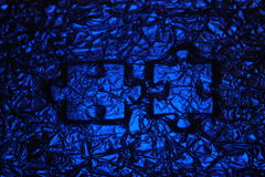 Puzzle print. Blue wrinkle paper. Royalty Free Stock Photography