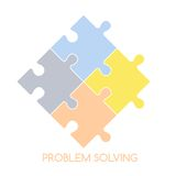 Puzzle problem solve Stock Images