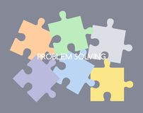 Puzzle problem solve Royalty Free Stock Image