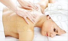 Puzzle professionale di massaggio Fotografia Stock