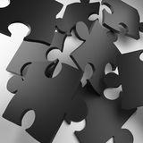 Puzzle, puzzle piece, metal puzzle, color puzzle royalty free stock photos