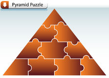 Puzzle Pyramid Stock Image