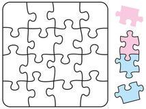 Puzzle-Quadrat Stockfoto