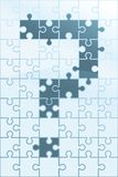 Puzzle Question. A puzzle with a question mark Royalty Free Stock Image