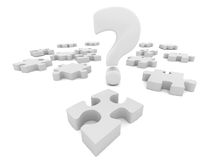 Puzzle question mark Stock Photos