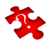 Puzzle with question mark Stock Photography