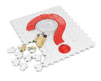 Puzzle with question mark Stock Photos