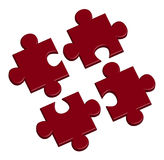 Puzzle in red Royalty Free Stock Photos