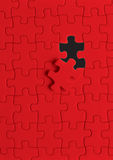 Puzzle in red royalty free stock image