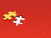 Puzzle of red and yellow color Royalty Free Stock Photo