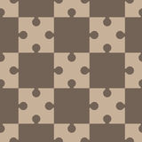 Puzzle, regular seamless pattern Royalty Free Stock Images