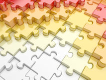 Puzzle with relief Stock Images