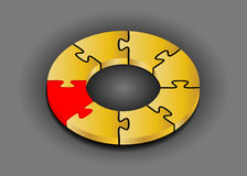 Puzzle ring 3D. Innovation concept Royalty Free Stock Photos