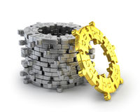 Puzzle ring Stock Images