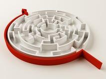 Puzzle risolto del labirinto Fotografia Stock
