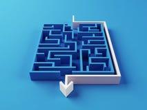 Puzzle risolto del labirinto Immagine Stock