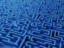 Puzzle risolto del labirinto Immagini Stock