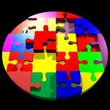 puzzle rond Photo stock