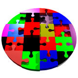 puzzle rond Photo stock