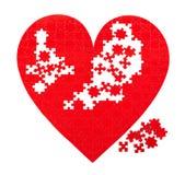 Puzzle rossi del cuore Immagine Stock Libera da Diritti