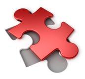 Puzzle rosso Immagini Stock Libere da Diritti