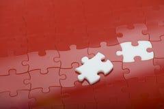 Puzzle rosso Immagine Stock Libera da Diritti