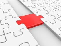 Puzzle rosso come ponte Immagine Stock Libera da Diritti