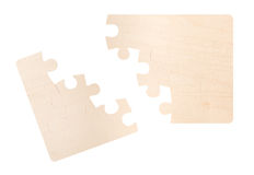 Puzzle rotto in bianco Immagini Stock