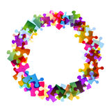 Puzzle in round Royalty Free Stock Image