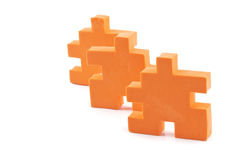 Puzzle in row Stock Photography