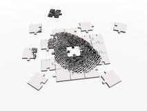 puzzle rozwiązać odcisk palca Zdjęcie Royalty Free