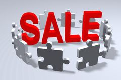 Puzzle sale concept.. Royalty Free Stock Photography