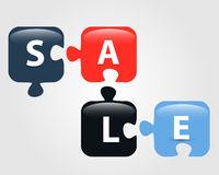 Puzzle sale Stock Images