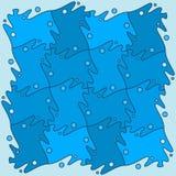 Puzzle sans couture marin Photographie stock