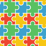 Puzzle seamless background Royalty Free Stock Image